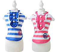 Dog Coat Blue / Rose Dog Clothes Summer Fashion