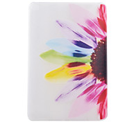 Colorful Flowers Half Pattern TPU Soft Back Tablet Case for iPad Air 2/iPad 6