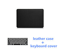 Best Quality 2016 Black PU Leather Fold MacBook Case and Keyboard Flim for MacBook Retina 13.3 inch