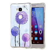 Purple Dandelion Pattern Grainy Inner Shockproof Air TPU Back Case Cover for Huawei Honor Play 5X / Honor 5X