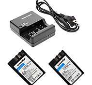ismartdigi EL9 Digital Camera Battery x2 + O.Charger for Nikon D60/D40/D40X/D500 EL9