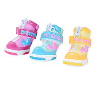 Dog Shoes & Boots Fashion Winter Yellow / Blue / Pink PU Leather