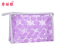 Makeup Storage Cosmetic Bag / Makeup Storage PVC Lace Quadrate 23x7x15cm Black / Red / Purple / Pink
