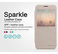 NILLKIN Sparkle Series Flip Ultra-thin PU Leather Cover Shell for Samsung Galaxy S7(Assorted Colors)
