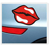 Funny Popular logo lips Car Sticker Car Window Wall Decal Car Styling (1pcs)