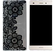 Mobile Shell funda protectora cáscara suave de TPU transparente modelo pintura gloria de la mañana para Huawei p8 Lite