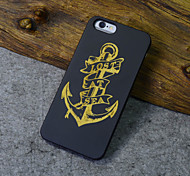 Black Wood iphone Case Anchor Sailor Captain Carving Hard Back Cover for iPhone 5s/iphone 5