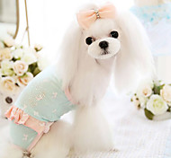 Dog Clothes/Jumpsuit Blue / Pink Dog Clothes Spring/Fall Fashion
