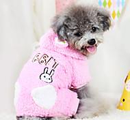 Dog Coat Brown / Pink Winter Fashion