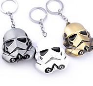 3 colors Star Wars Keychain 6.4 cm StormTrooper Helmet Key chain ring Darth Vader Mask Superhero Keyring