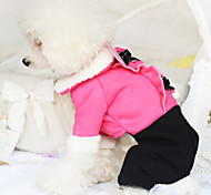 Dog Coat Rose Winter Fashion