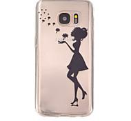 paardenbloem meisje patroon TPU hulp Cover Case voor Galaxy S7 / galaxy S7 edge / galaxy s7 rand plus