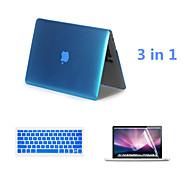2016 venda quente caso cor sólida de alumínio macbook com tampa teclado e flim tela para MacBook retina de 13,3 polegadas
