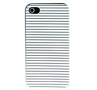 custodia rigida strisce modello in bianco e nero per il iphone 4 / 4s