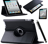 Retina iPad 360 Rotating Stand Flip Smart PU Leather Case Cover Screen Film Cover For Case Apple iPad 2/3/4