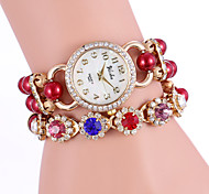 YILISHA ® Women Fashion Charming Colorful Rhinestone Display & Bead Strap Round Dial Quartz Bracelet Watches Jewelry