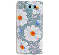 Flower Pattern TPU Relief Back Cover Case for LG V10