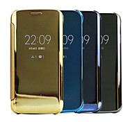 Smart Clear View Mirror Screen Wake Up / Sleep Flip Case Cover Case For Galaxy E5/E7