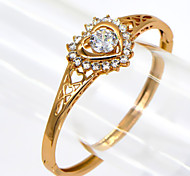 Unique Cubes Zircon Design Aesthetic Fashion Brand 18k Gold Plated Women Gift Bangle BR70017