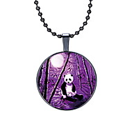 The New Moon Panda Animal Pendant Necklace.
