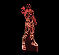 Visual 3D Iron Man Color-changing LED Decoration USB Table Lamp Colorful Gift Night Light