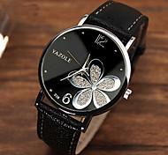 Mujer Reloj de Moda Cuarzo PU Banda Flor Negro Marrón # 6 # 7 # 8 # 9 # 10