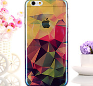 coloré diamant treillis blu-ray paillettes réfléchissant iphone doux semi-couverture arrière pour iphone 6s / iphone 6