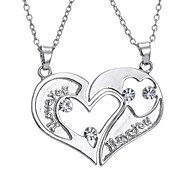 European And American Fashion Valentine Couple Necklace
