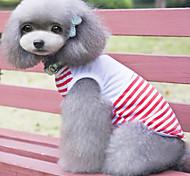t-shirt para cães azul / vermelho verão / primavera xs / s / m / l / xl de algodão