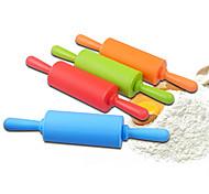 Mini Silicone Rolling Pin Dia.4.3cm x L 22cm Food Safe Silicone Material Random Colors