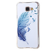 For Samsung Galaxy Case Shockproof / Pattern Case Back Cover Case Feathers TPU Samsung A7(2016)