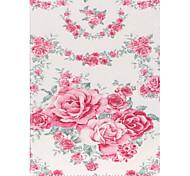 rozen folio lederen stand beschermhoes met standaard voor Samsung Galaxy Tab een 9,7 T550 T555