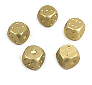 Exquisite Aluminum Alloy Dice Golden Silver