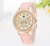 Women's Watch Three Eye Diamond Fashion Leisure Ladies Belts Watches