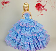 Barbie Doll Sky Blue Party & Evening Organza / Lace Dresses Dresses