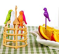 Fourchettes à Fruit Plastique ,