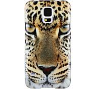 el diseño de la cabeza del leopardo del IMD + TPU caso para Samsung Galaxy s5