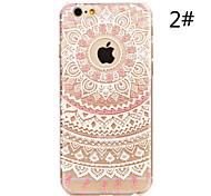 Назначение iPhone X iPhone 8 iPhone 7 iPhone 7 Plus iPhone 6 iPhone 6 Plus Чехлы панели С узором Задняя крышка Кейс для Мандала Твердый PC