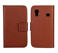 caja de la PU del tirón del cuero estilo de la carpeta de lujo con cierre magnético y una tarjeta para Samsung S5830 Galaxy Ace (colores