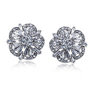 2016 Women Fashion Stud Earrings AAA Quality Cubic Zirconia EarringsImitation Diamond Birthstone