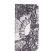 modèle d'arbre de lfe étui en cuir PU avec fente pour carte et reposer bord à bord / s6 / edge s6 samsung galaxy s, plus