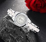 Mujer Reloj de Moda Cuarzo Aleación Banda Blanco Rosa Blanco Rosa