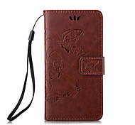 Embossed Butterfly Purse Style with Lanyard Phones for iPhone 6/6S/6 Plus/6S Plus