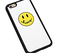Happy Cartoon Face Silica Gel Wrapping Back Cover for iPhone6/iPhone 6s(Assorted Colors)