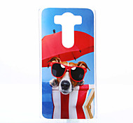 Glasses Dog Pattern TPU+IMD Soft Case for LG V10