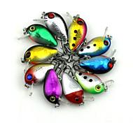 "10pcs pcs Manivela Colores Aleatorios 1.5g g/1/18 Onza,30 mm/1-1/4"" pulgada,Plástico duroPesca al spinning / Pesca de agua dulce / Otros"