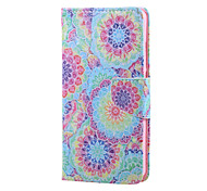 Cross Textured Leather Protective Stand Phone Case with Card Slot for Huawei Honor 5X - Vivid Butterflies