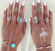 Жен. Массивные кольца Кольцо на кончик пальца Мода По заказу покупателя Регулируется бижутерия Сплав В форме животных Треугольной формы