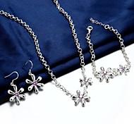 Gioielli 3 pezzi Feste / Casual Argento placcato 3 pezzi Da donna Argento Regali di nozze