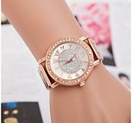europa y venta de cuarzo de aleación de relojes de diamantes pareja de moda relojes suizos de línea de acero romano